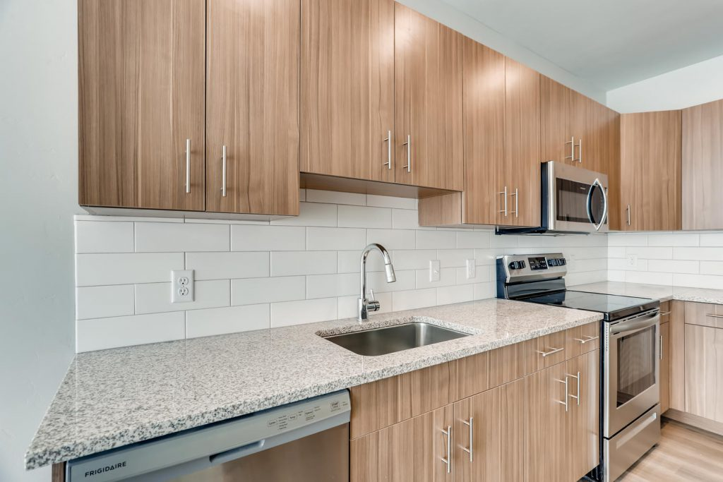 Kitchen with Granite Countertops - Six Canyon