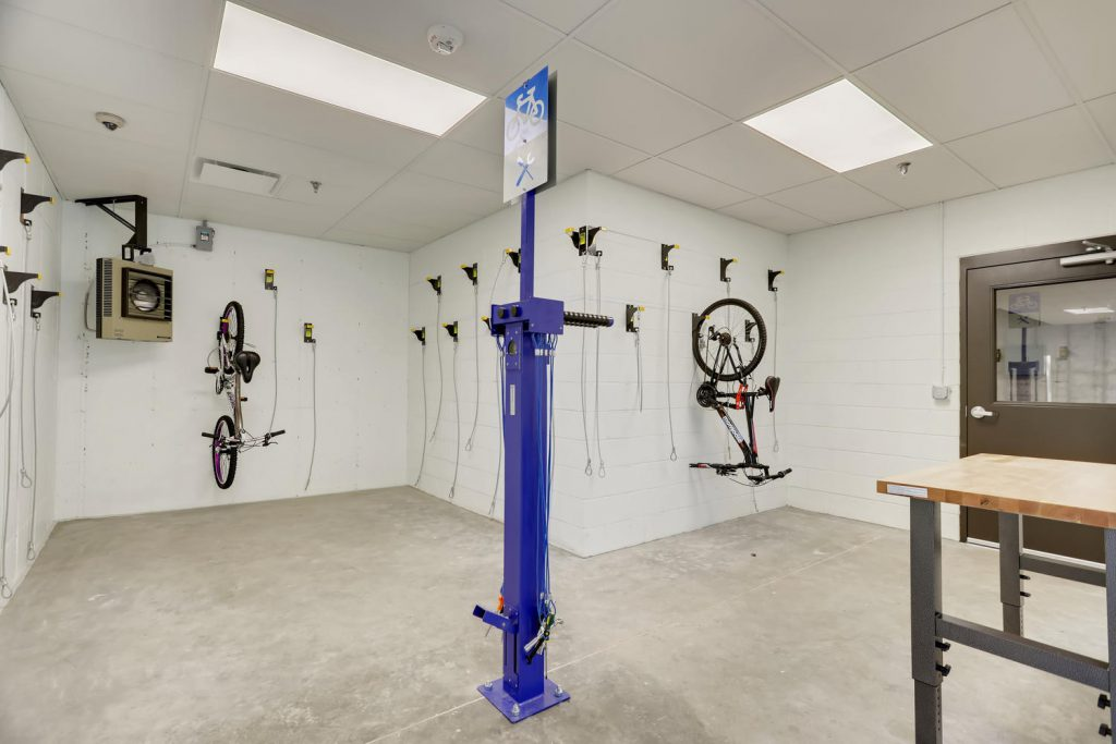 Bike Storage and Workshop at Six Canyon in Glenwood Springs
