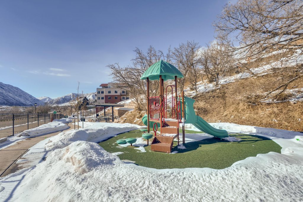Playground outside Six Canyon Apartments in Glenwood Springs