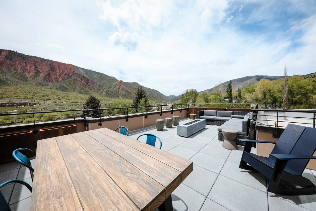 Views from patio at Six Canyon in Glenwood Springs