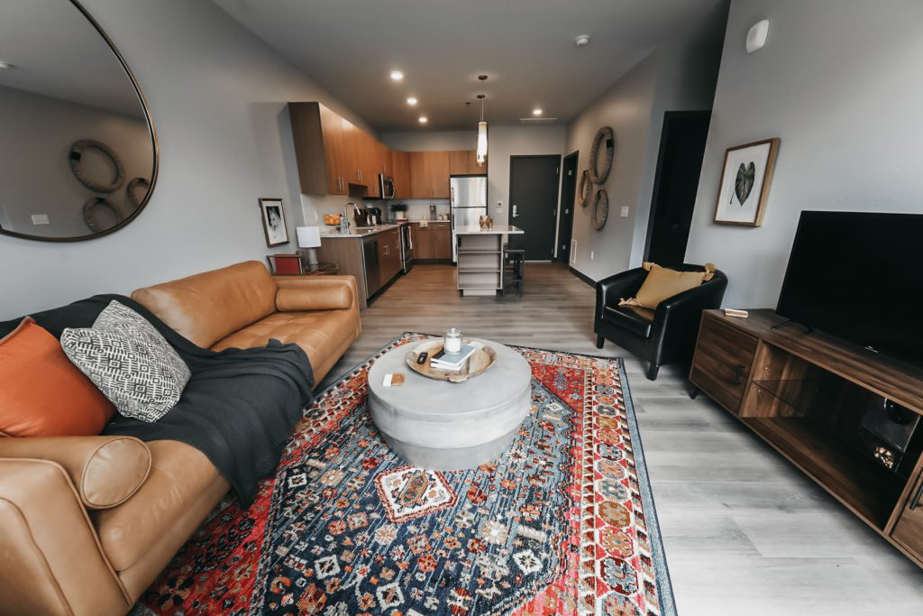 Open livng space at Six Canyon Apartments - Glenwood Springs