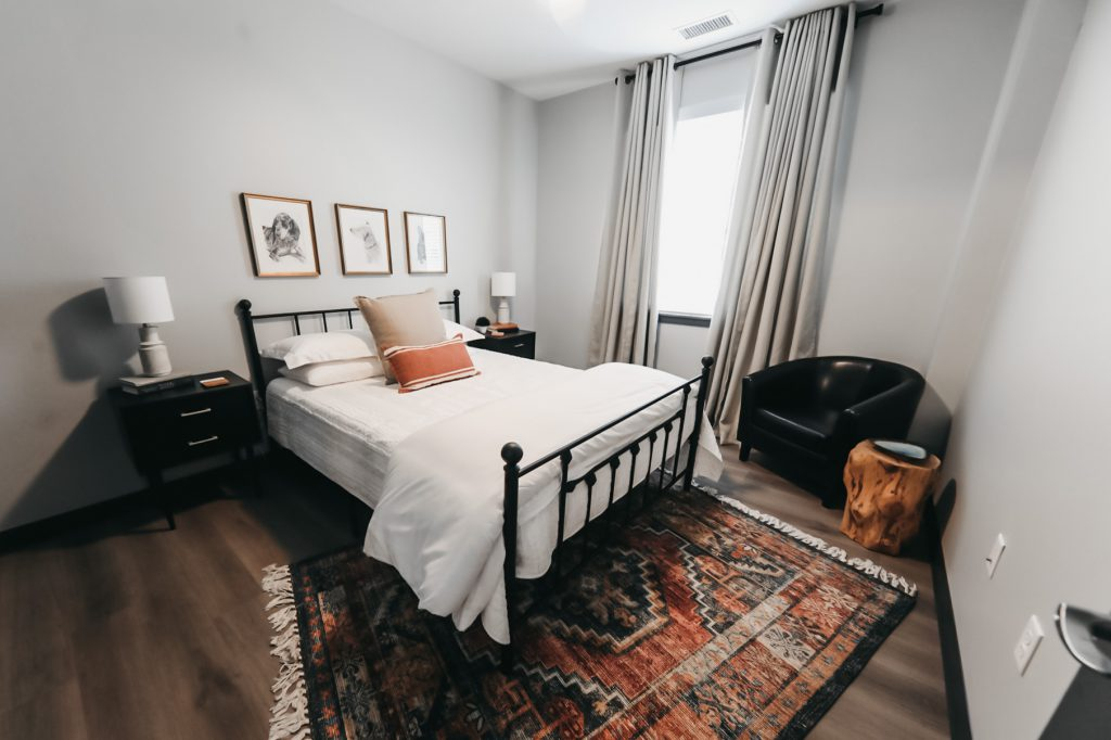 Spacious bedroom at Six Canyon Apartments