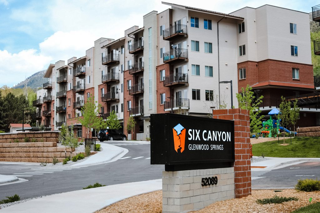 Six Canyon sign - exterior drive